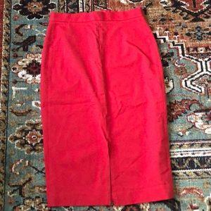 Red pencil skirt banana republic